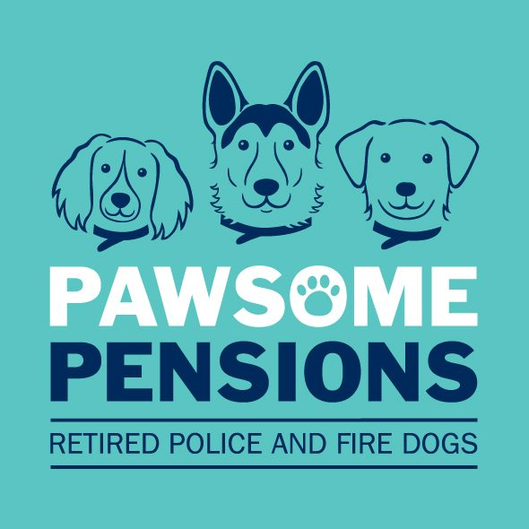 Pawsome Pensions retired police and fire dogs